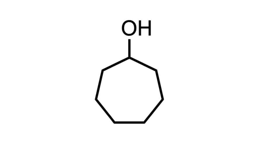 シクロヘプタノールの構造式