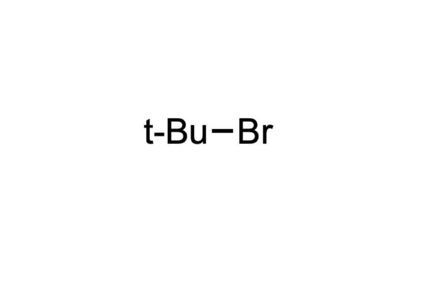 2-ブロモ-2-メチルプロパンの構造式