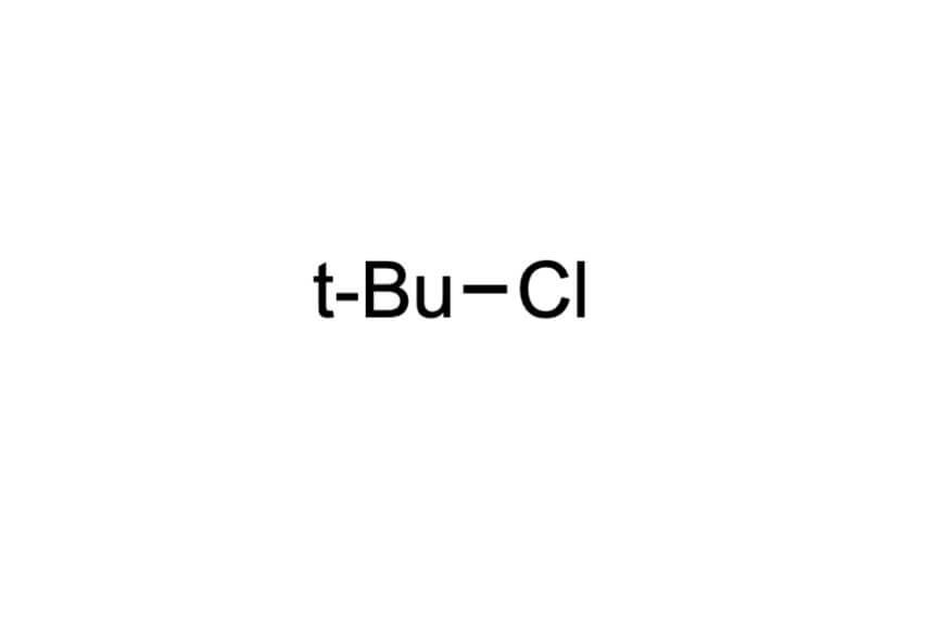 2-クロロ-2-メチルプロパンの構造式