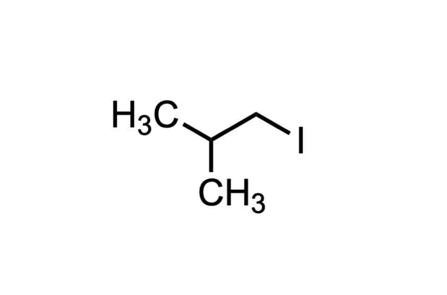 1-ヨード-2-メチルプロパンの構造式