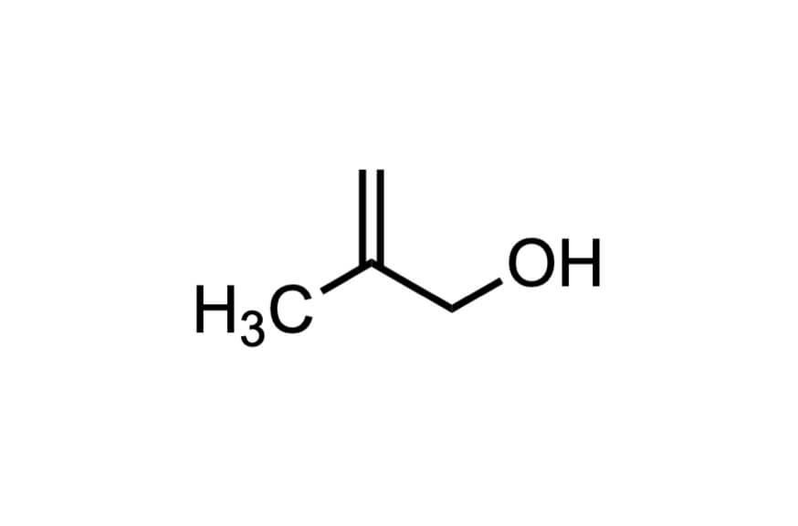 β-メタリルアルコールの構造式