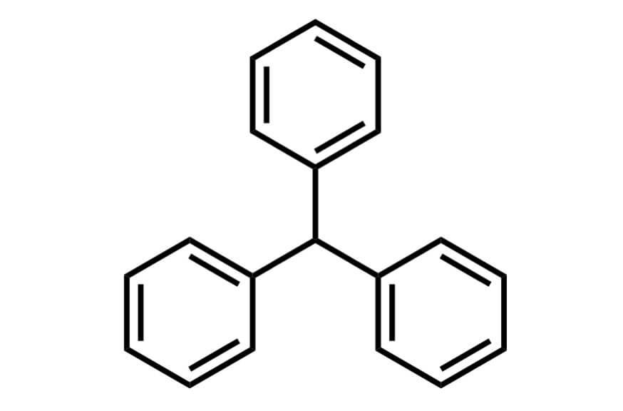 トリフェニルメタンの構造式