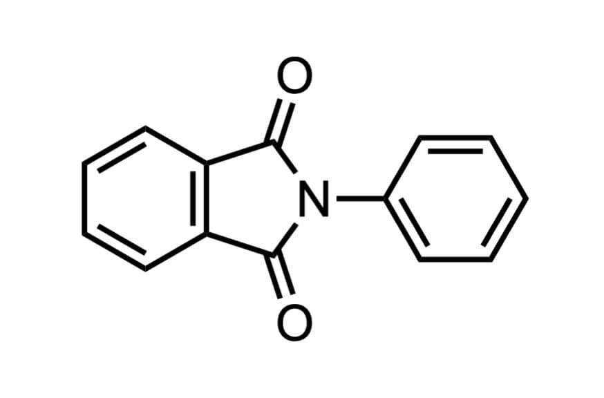 N-フェニルフタルイミドの構造式