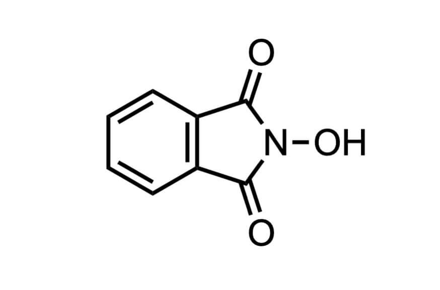 N-ヒドロキシフタルイミドの構造式