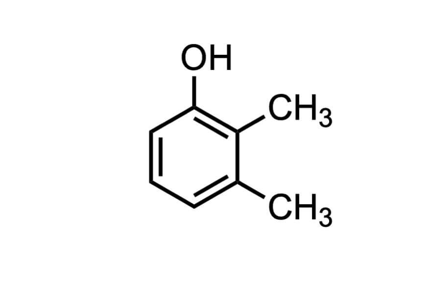 2,3-ジメチルフェノールの構造式