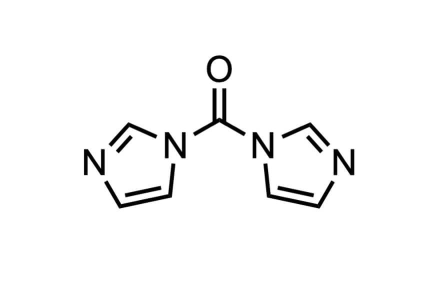 1,1'-カルボニルジイミダゾールの構造式