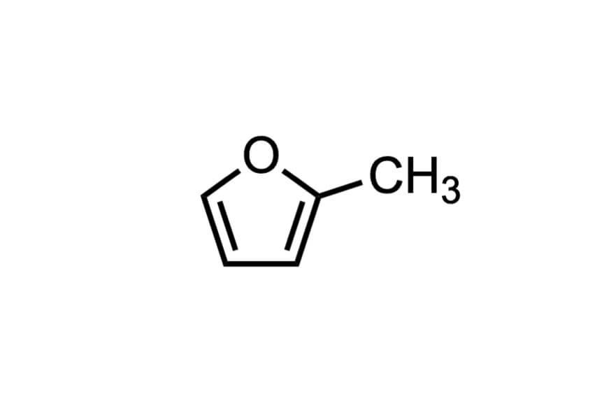 2-メチルフランの構造式