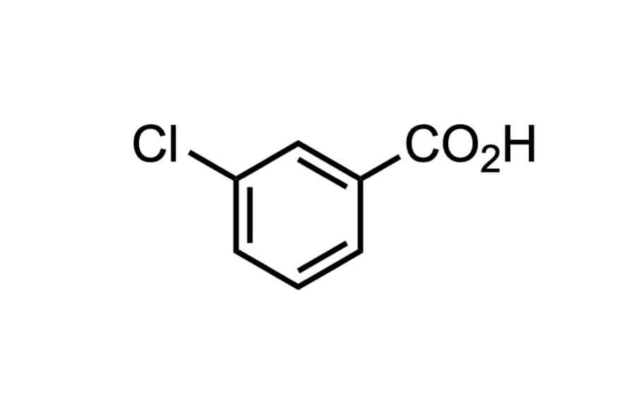 3-クロロ安息香酸の構造式