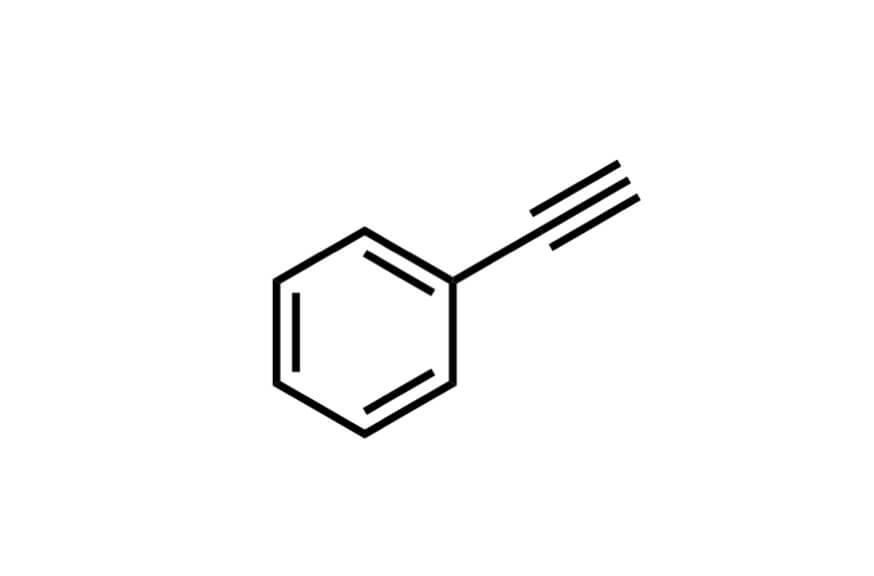 エチニルベンゼンの構造式
