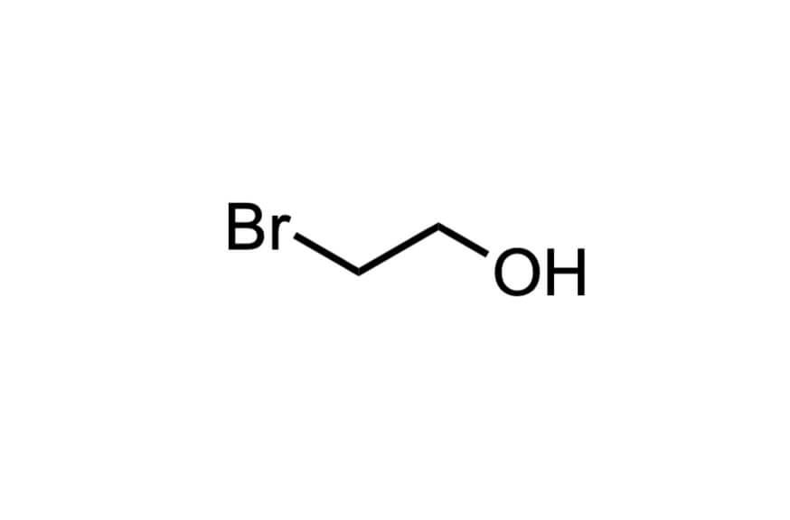 2-ブロモエタノールの構造式