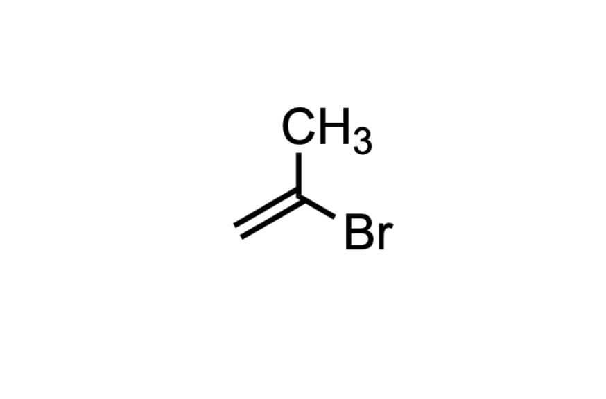 2-ブロモ-1-プロペンの構造式