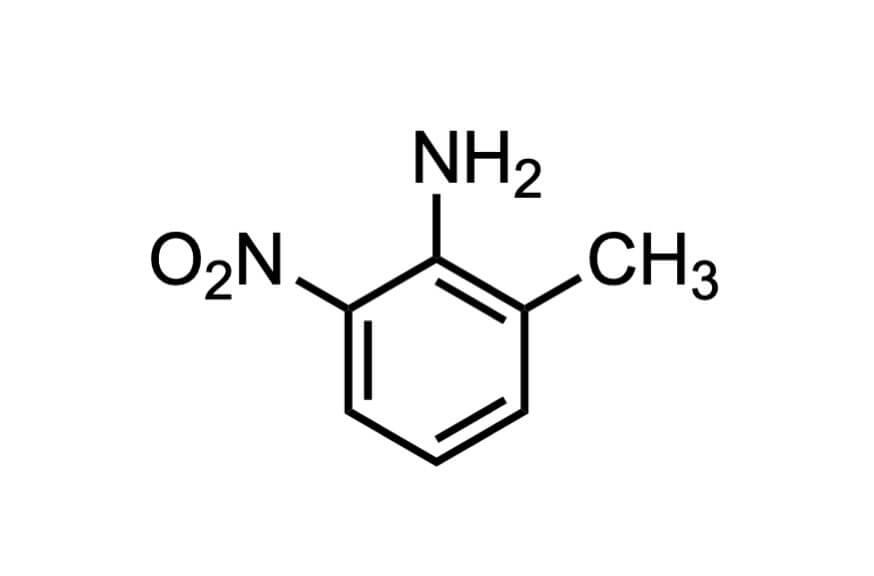 2-メチル-6-ニトロアニリンの構造式