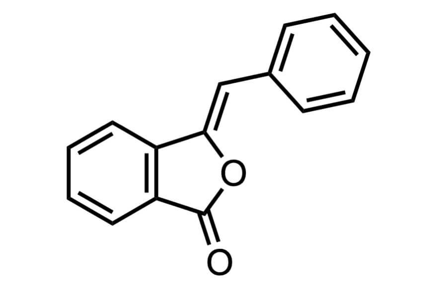 3-ベンザルフタリドの構造式