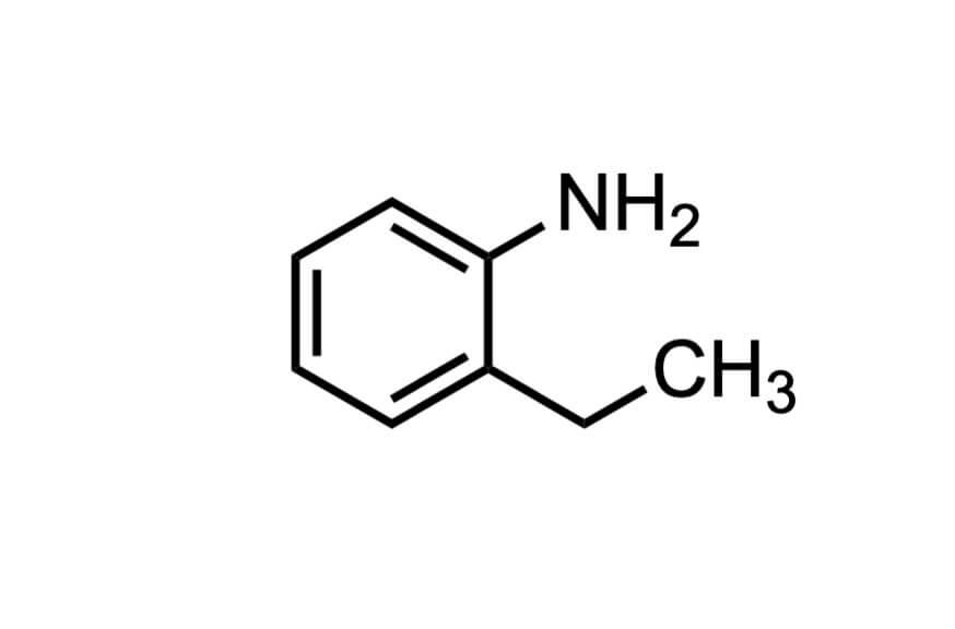 2-エチルアニリンの構造式