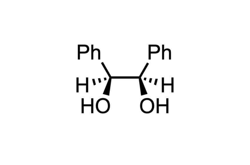 meso-ヒドロベンゾインの構造式
