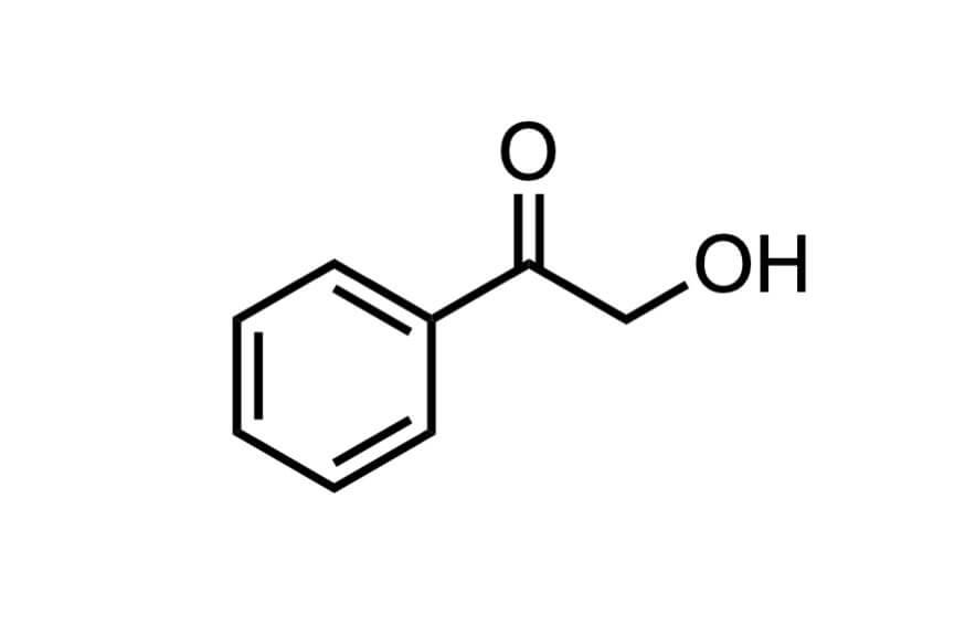 2-ヒドロキシアセトフェノンの構造式