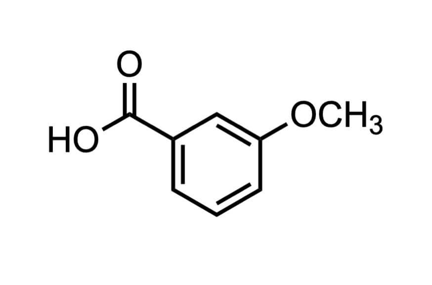 m-アニス酸の構造式