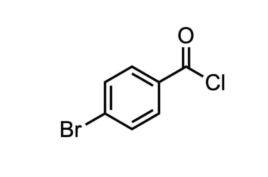4-ブロモベンゾイルクロリドの構造式