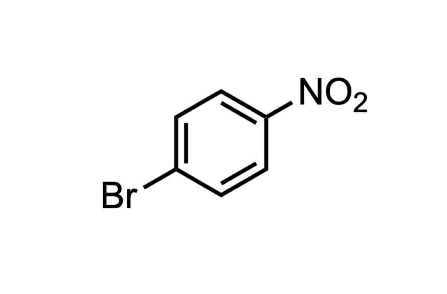 1-ブロモ-4-ニトロベンゼンの構造式