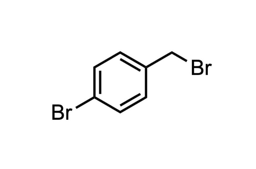 4-ブロモベンジルブロミドの構造式