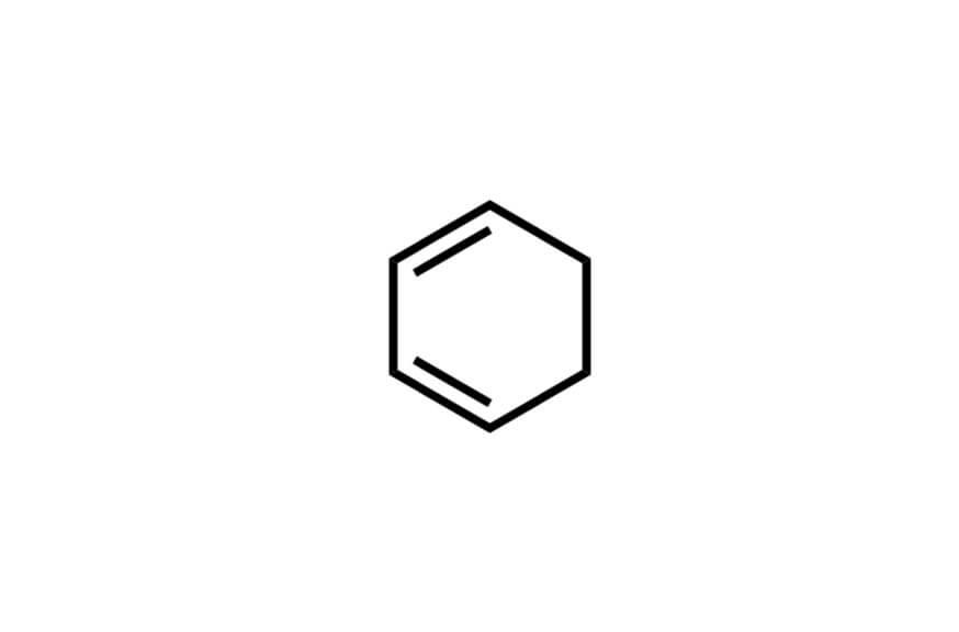 1,3-シクロヘキサジエンの構造式