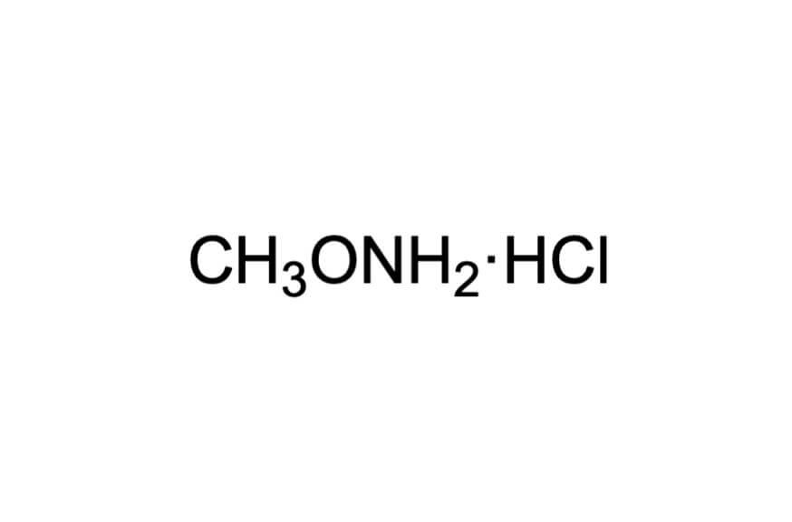 O-メチルヒドロキシルアミン塩酸塩の構造式