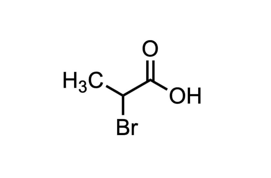 2-ブロモプロピオン酸の構造式