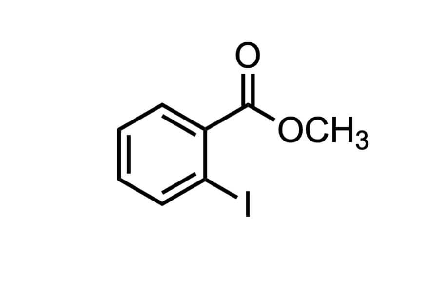 2-ヨード安息香酸メチルの構造式