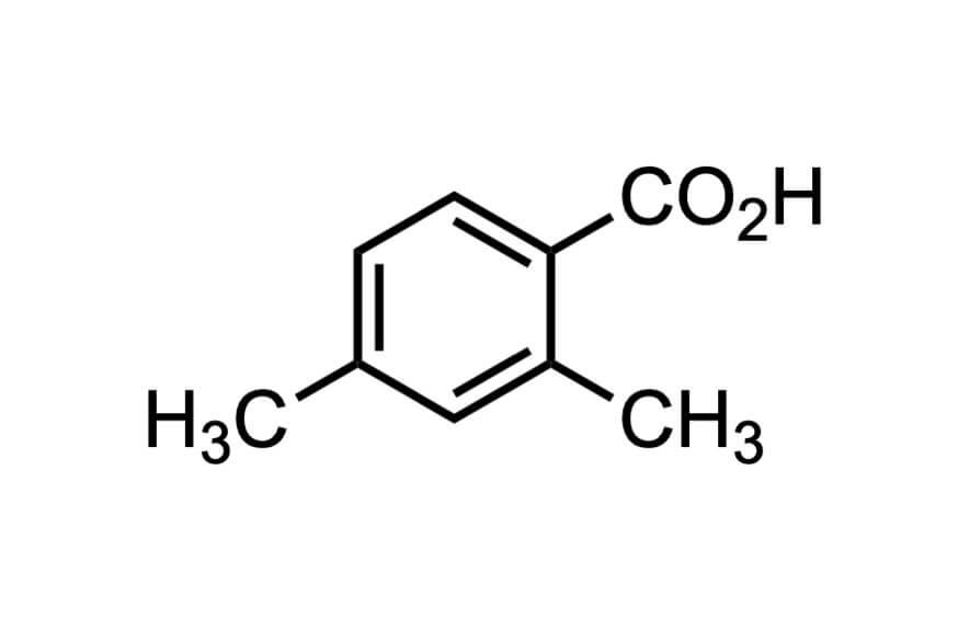 2,4-ジメチル安息香酸の構造式