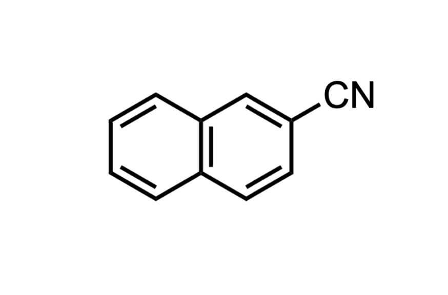 2-ナフトニトリルの構造式