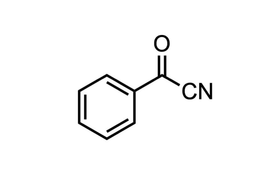 ベンゾイルシアニドの構造式