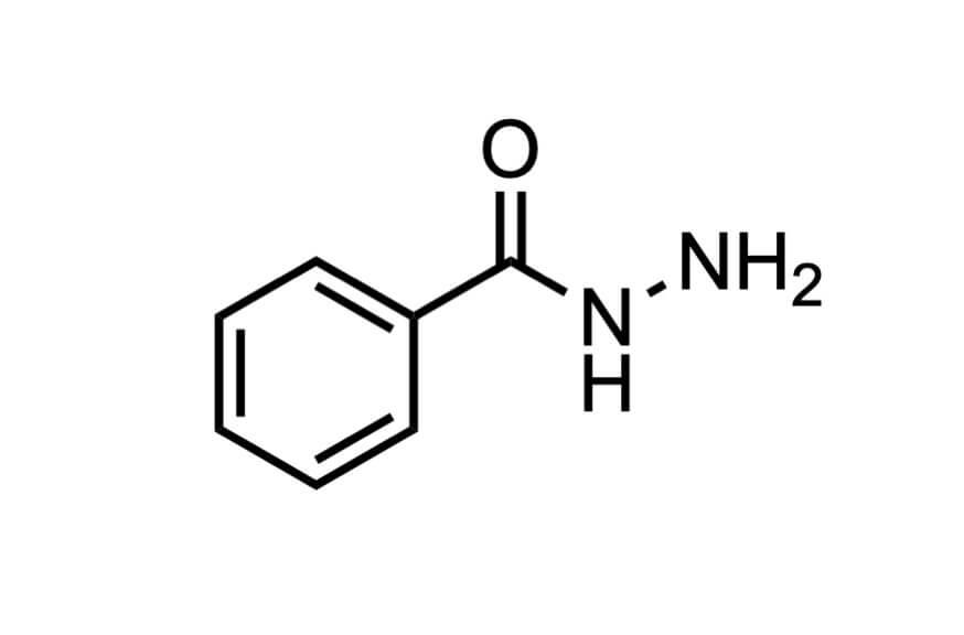 ベンゾイルヒドラジンの構造式