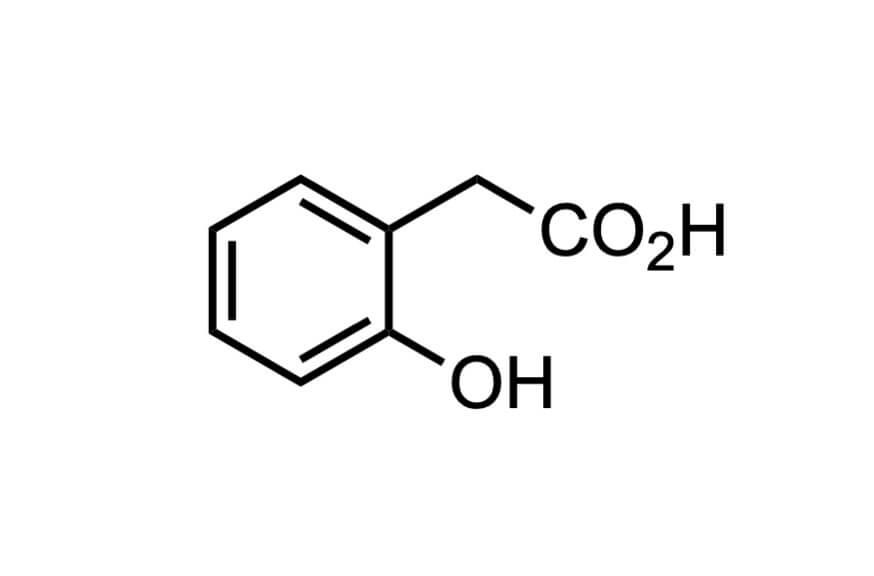2-ヒドロキシフェニル酢酸の構造式