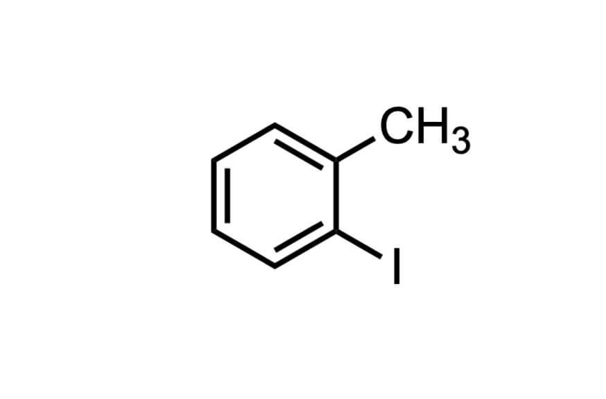 2-ヨードトルエンの構造式