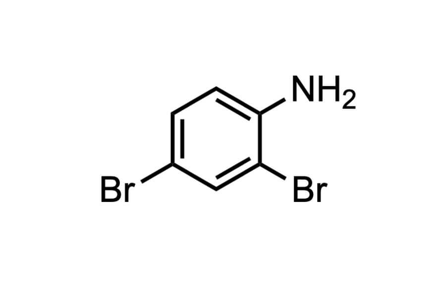 2,4-ジブロモアニリンの構造式