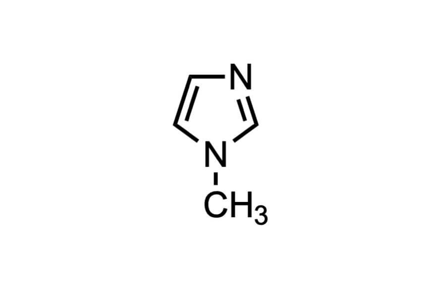 1-メチルイミダゾールの構造式