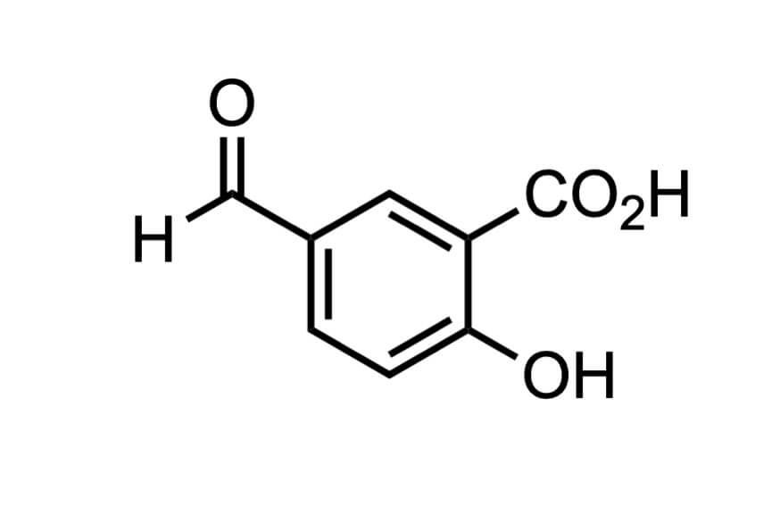 5-ホルミルサリチル酸の構造式