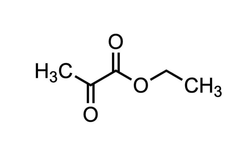 ピルビン酸エチルの構造式