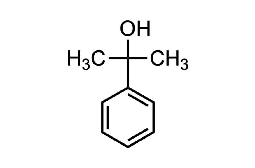 2-フェニル-2-プロパノールの構造式