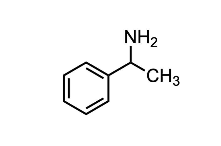 DL-1-フェニルエチルアミンの構造式