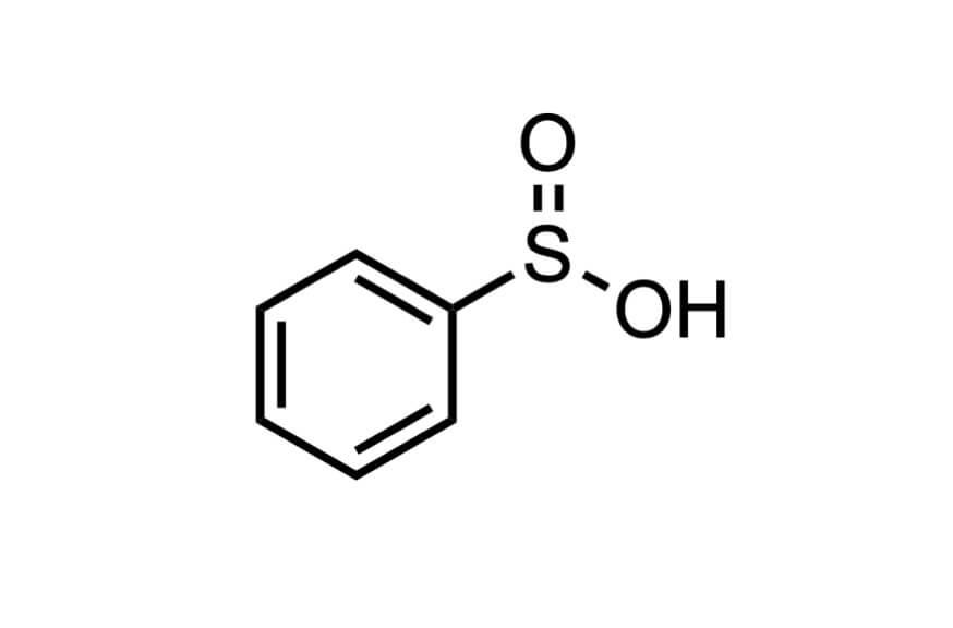 ベンゼンスルフィン酸の構造式