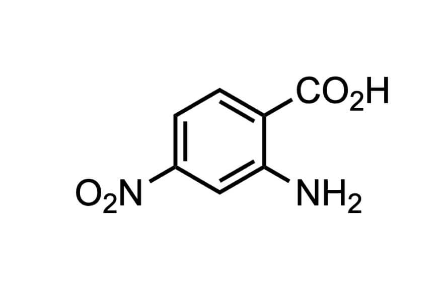 4-ニトロアントラニル酸の構造式