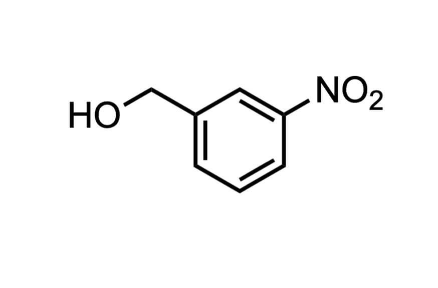 3-ニトロベンジルアルコールの構造式