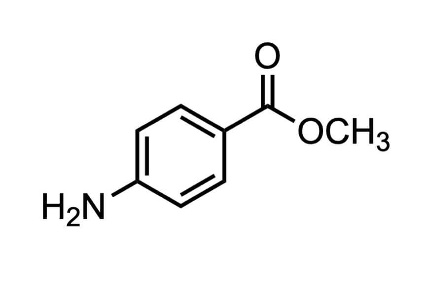 4-アミノ安息香酸メチルの構造式