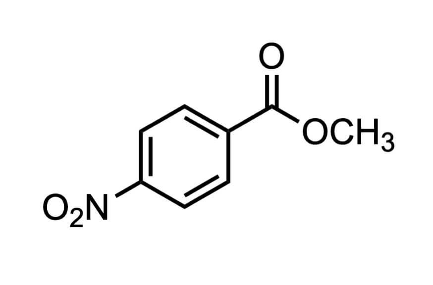 4-ニトロ安息香酸メチルの構造式