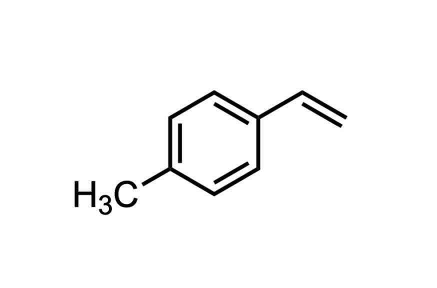 4-メチルスチレンの構造式