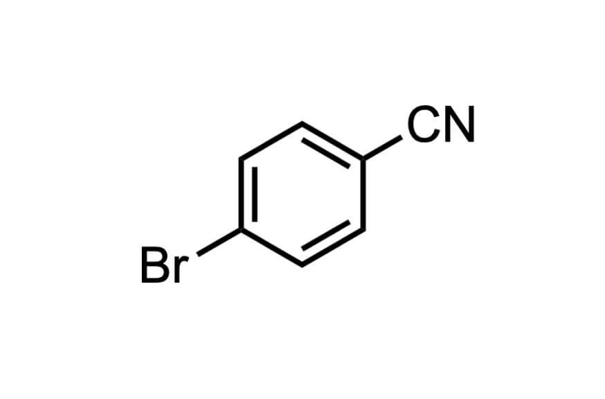 4-ブロモベンゾニトリルの構造式