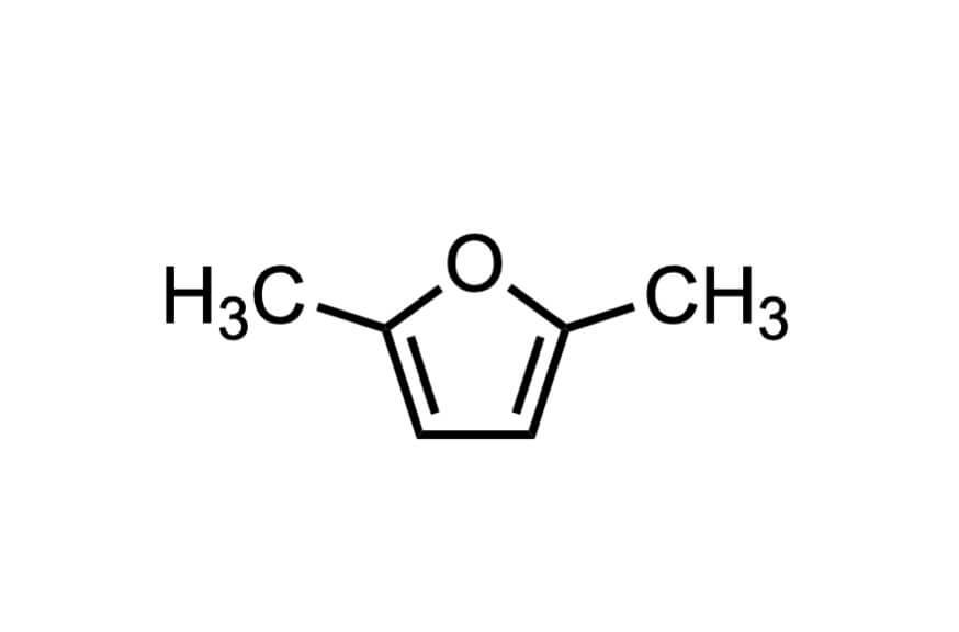 2,5-ジメチルフランの構造式