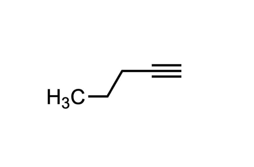1-ペンチンの構造式