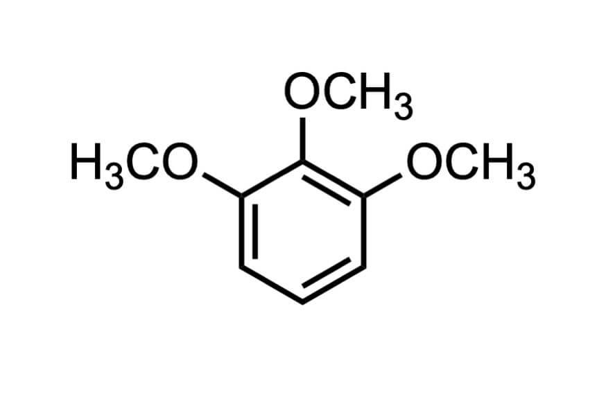 1,2,3-トリメトキシベンゼンの構造式